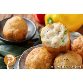 【鴻綺水產-美味炸物】干貝花枝丸(600±10g/份) 團購特價中